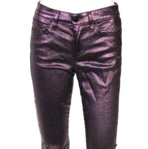 Joe's raspberry leather coated